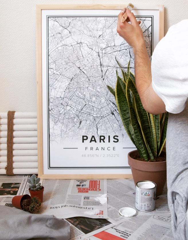 Mapiful carte personnalisable paris