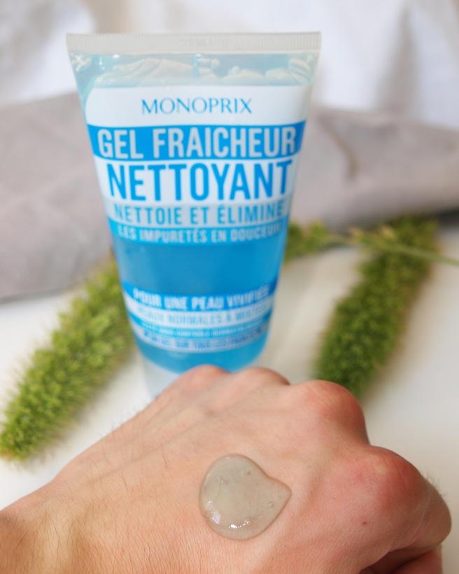 gel nettoyant fraicheur monoprix