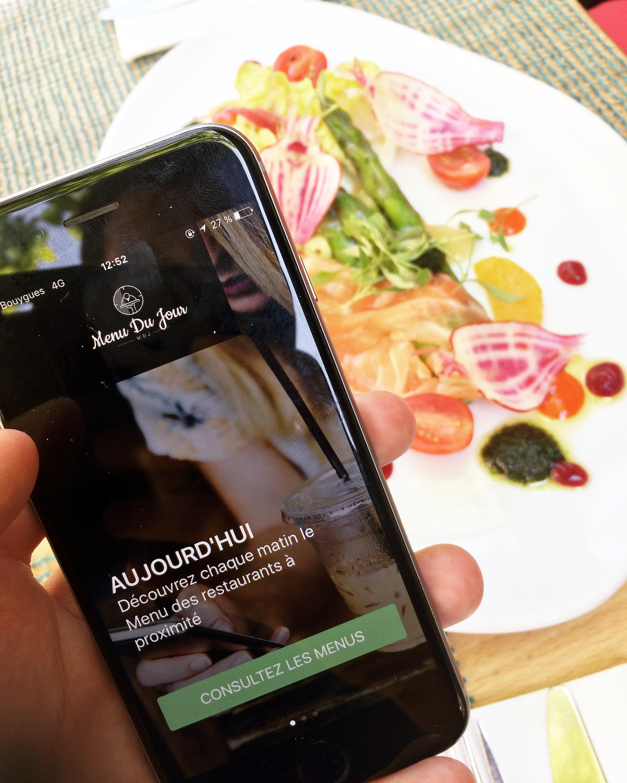 menu du jour application restaurant