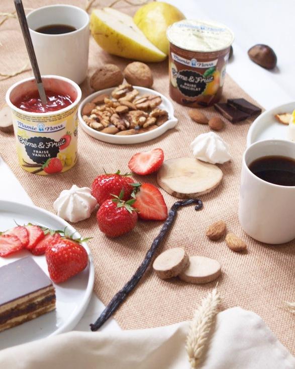 crème et fruits nouveauté mamie nova