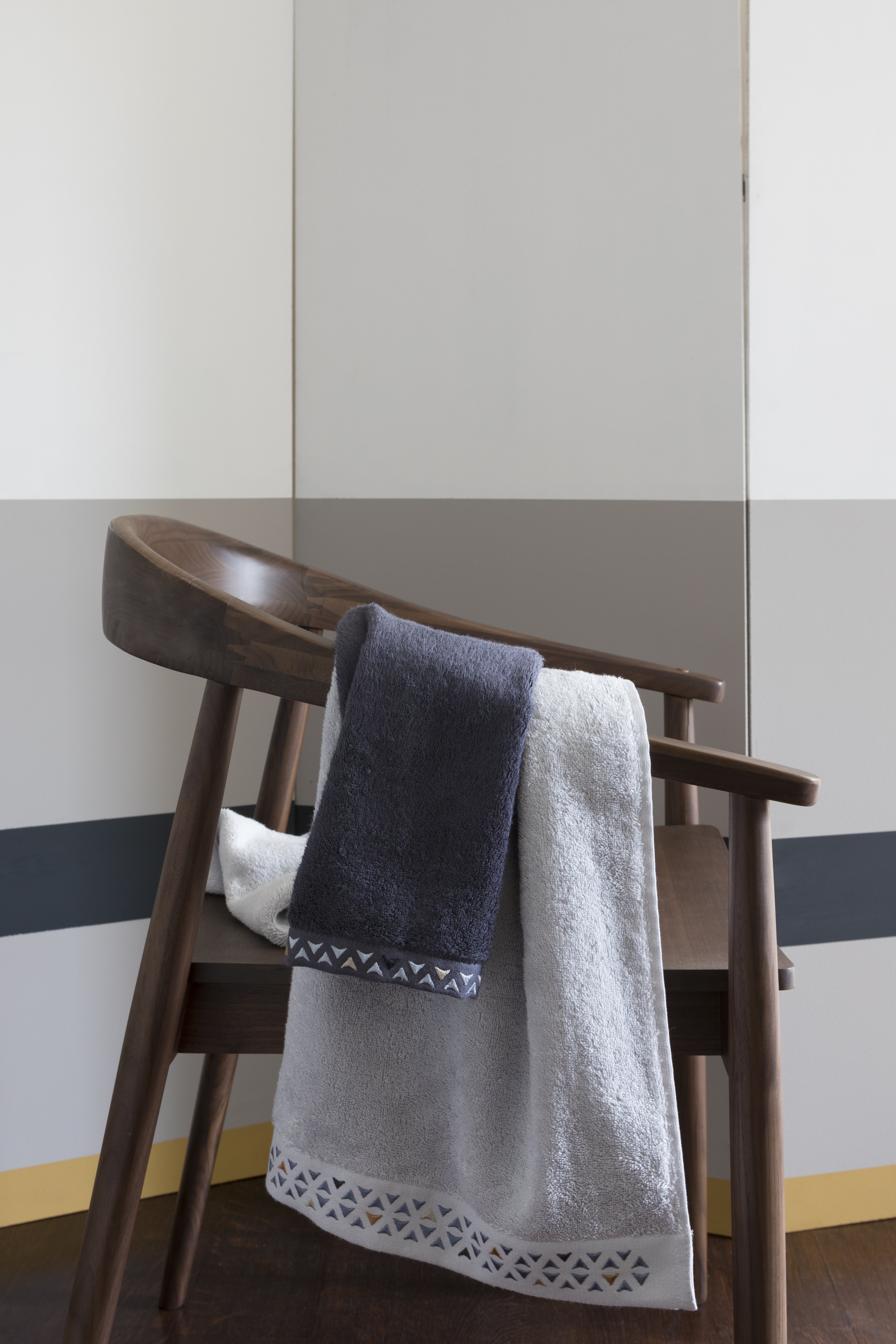 parure de bain amaury carré blanc
